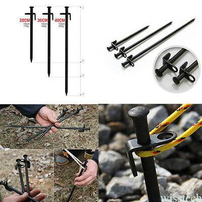 20/30/40cm Heavy Duty Stainless Steel Camp Awning Canopy Tent Rock Stakes Pegs