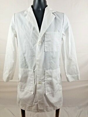 Mr Barco Overpro Mens Size 34 lab coat White Professional Student Consultant