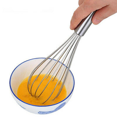 10 inch Hand Whisk Stainless steel Kitchen Mixer Balloon Wire Egg Beater Tool