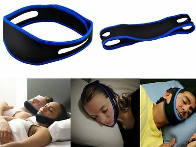 Anti Snore Stop Sleeping Snoring Strap Bruxism Apnea Aid Jaw Chin Support UK