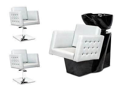 SALON HAIRDRESSING STYLING FURNITURE SETS Backwash  Styling Chairs CRYSTAL !!