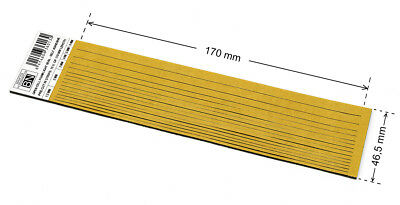 1,7 mm THICK PRE-CUT.  OPEN CELL FOAM SELF ADHESIVE - ONE PIECE: 1,7x46,5x170 mm