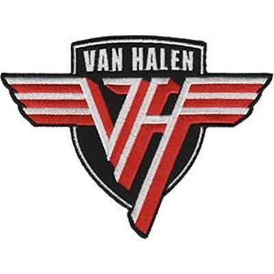 Official Licensed - Van Halen - Shield Logo Sew-On/iron-On Patch Metal Roth