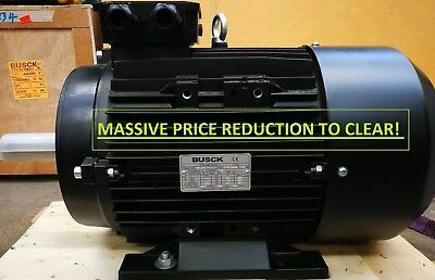PRICE REDUCED! BUSCK 11 KW, 3 PHASE, IE2, 400V, 50HZ, B3, 2Pole, ELECTRIC MOTOR