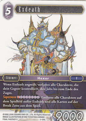 Final Fantasy Trading Card Game Opus 3 | EXDEATH 3-100L No Foil NEU