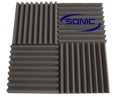 Wedge Profile Acoustic foam sound treatment tile pack, professional studio/music