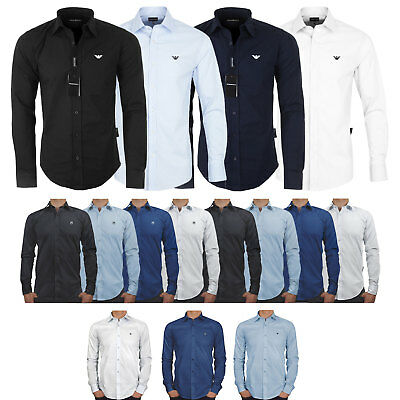 Emporio Armani, Kedar and Ake shirt, Long sleeve, Slim Fit, Size S M L XL XXL