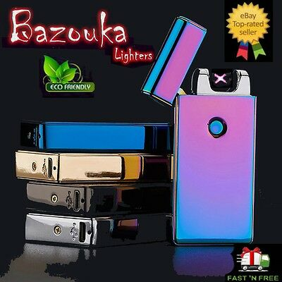 Electric USB Double Arc Plasma Bazouka Lighters Flame-less Top Quality