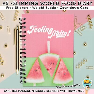 Food Diary Diet Journal Slimming World Compatible Weight Loss Tracker Landscape