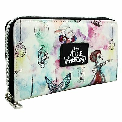 New Official Alice In Wonderland Through The Looking Glass White Clutch Purse