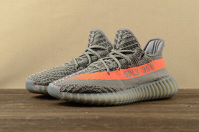 Adidas Yeezy Boost 350V2 Men's Running Trainers Shoes-grey & orange