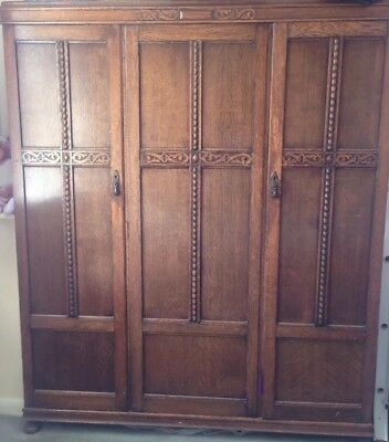 Waring & Gillows 1920's Jacobean Wardrobe