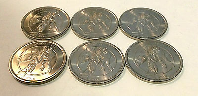 Canadian Tire 2010 Tobbogan Dollar Coin Pack of 6