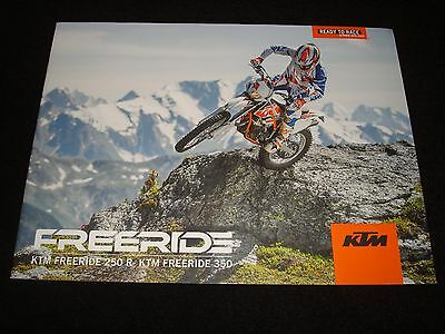 Ktm Freeride 250R & 350 Uk Sales Brochure 2016 New, Old Stock