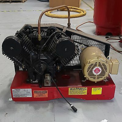 Used Schrader 7.5 HP Reciprocating Piston Air Compressor