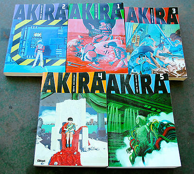 Lot 5 mangas AKIRA Tome 1, 2, 3, 4 et 5 grand format édition GLENAT