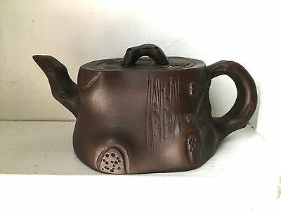 Yixing Chinese Purple Clay Teapot - Signed -  1 cup
