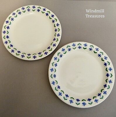 PAIR VINTAGE 1960s MIDWINTER 'ROSELLE' BREAKFAST/SALAD PLATES 22cm FAB CONDITION