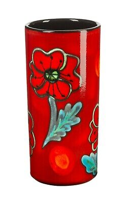 Poole Pottery Ceramic Poppyfield Large Pillar Vase 21cm First Quality UK Made