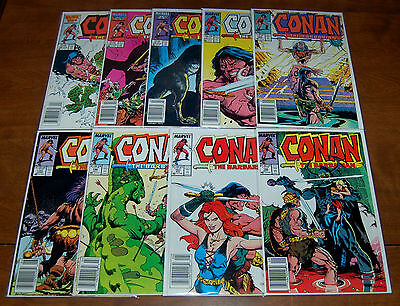 Conan the Barbarian #190 191 192 193 194 195 196 197 198 Marvel Lot FN- to VF+