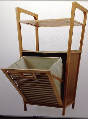 New  Kitchen  Laundry Bathroom Bedroom Bamboo Storage Shelves with Hamper