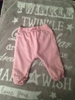 Girls H&M Trousers 9-12 Months