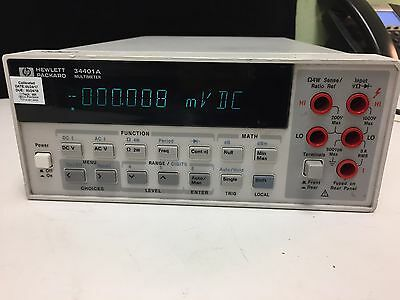 Hewlett Packard HP Agilent Keysight 34401A 6.5-Digit Digital Bench MultiMeter