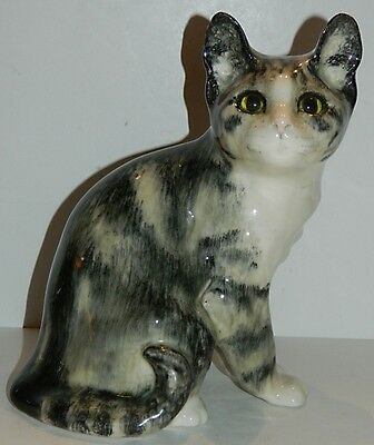 Winstanley England Saks 5th Avenue - Large Ceramic Sitting Cat - 9 5/8""