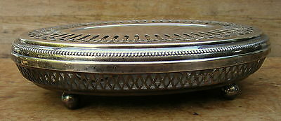 Francois Frionnet Ancien Chauffe Plat Art Deco Metal Argent Silver Plated French