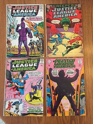 Justice League Lot 32, 34, 65, 70 (1964) 1st App Brainstorm!  Dr Destiny, Joker