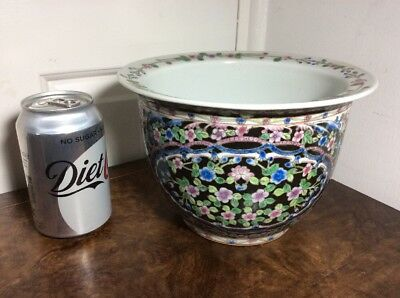 RARE CHINESE PORCELAIN Planter BOWL, With APPLIED DECORATION