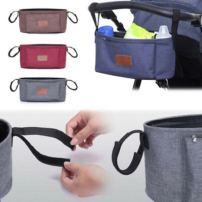 4 Color Baby Stroller Bag Organizer Cup Bag Bottle Hanging Stroller Accessories
