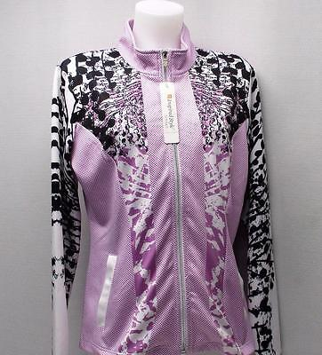 Ladies LARGE Spanner Inspired Style Bloom Active full zip long sleeve golf top