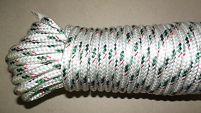 "5/16"" (8mm) x 95' Double Braid Sail/Halyard Line, Jibsheets, Boat Rope -- NEW"