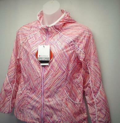 New Ladies LARGE Sunice Lucy Hooded Stretch wind lightweight golf jacket