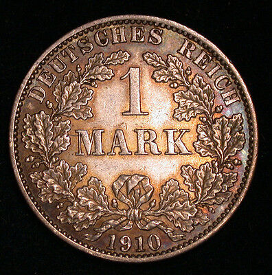 1910 A German 1 Mark in AU/Unc!