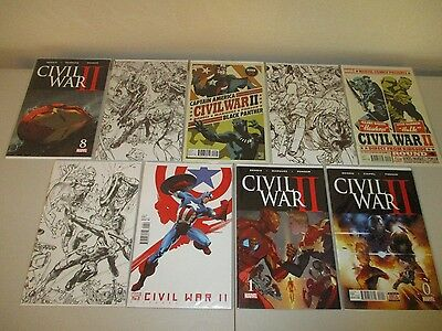 Civil War II #0-8  (Full 2016 Set)  VF/NM  ~Bendis~  0 1 2 3 4 5 6 7 8  #1-8