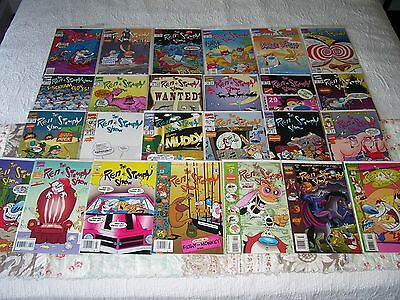 REN AND STIMPY SHOW 25 Comic Lot (1-44)~Bagged/Boarded~VF~SAME DAY SHIPPING!!