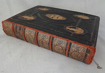 Victorian Leather Bound & Gilt Edged Book: All Round The World (Published 1870)