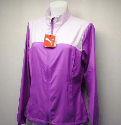New LARGE Ladies Puma Tech Wind Golf Jacket Cactus Flower Polyester