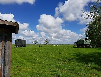 Group Glamping break for 10 guests, exclusive hire of the army field, 2 nights