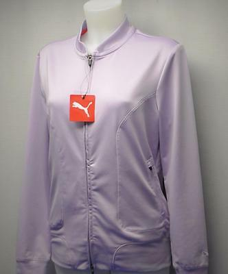 New LARGE Ladies PUMA Golf Jacket Orchid Bloom Polyester/elastane