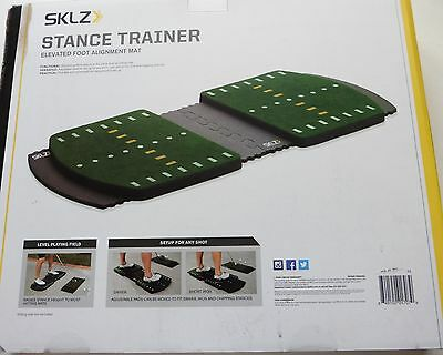 SKLZ GOLF STANCE TRAINER ELEVATED FOOT ALIGNMENT MAT NEW IN BOX training aid