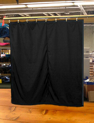 IN STOCK! - Black Stage Curtain/Backdrop/Partition, 10'H x 9'W, Non-FR