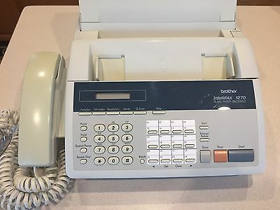 BROTHER INTELLIFAX 1270 Plain Paper Facsimile Fax Machine Copier / Owners Manual