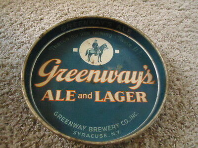 Rare Greenway Ale & Lager Metal Beer Tray Sign Lg Tray Sale Syracuse New York