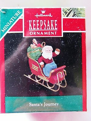 1990 Hallmark Keepsake Miniature Christmas Ornament SANTA'S JOURNEY
