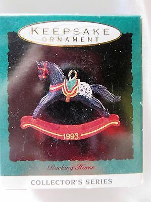 1993 Hallmark Miniature Christmas Ornament ROCKING HORSE #5 IN SERIES