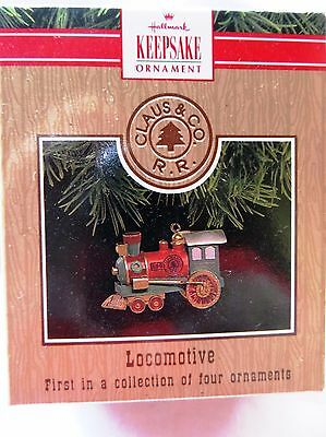 1991 Hallmark Miniature Christmas Ornament CLAUS & COMPANY LOCOMOTIVE #1 SERIES