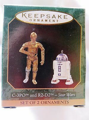 1997 Hallmark Miniature Christmas Ornament C-3PO R2D2 STAR WARS 2 ORNAMENT
